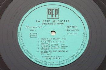 Emmanuel Brun – La Scie Musicale LP side 1