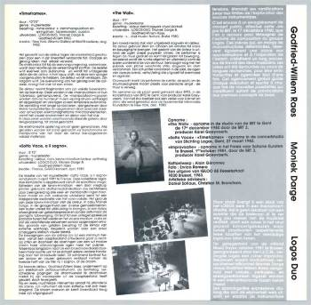 Logos Duo – Composition & Improvisation LP insert