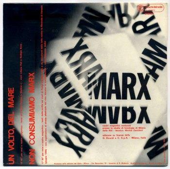 Luigi Nono – Non Consumiamo Marx LP back cover