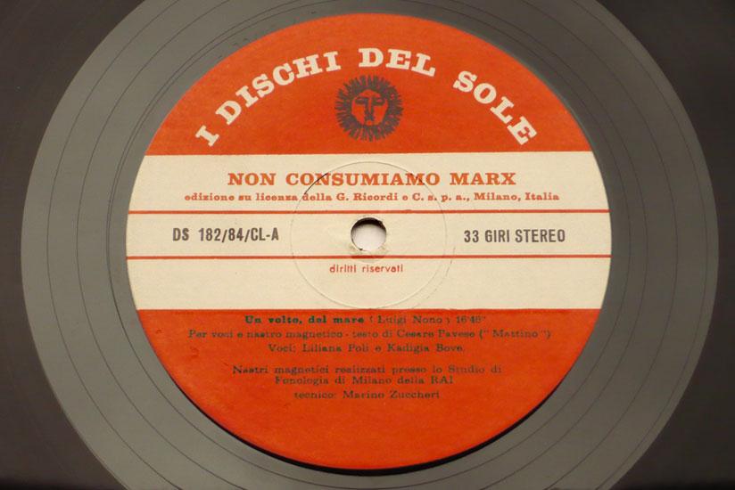 Luigi Nono Non Consumiamo Marx Musica Manifesto N 1 Di Luigi Nono