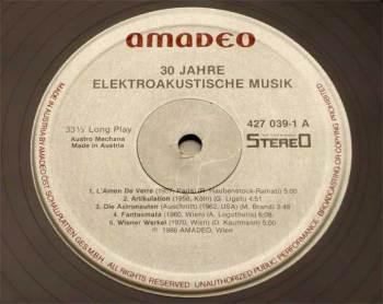 Osterreichische Musik der Gegenwart: Elektronische Musik vol.1 LP side A