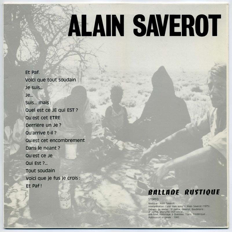 Alain Saverot - Ballade Rustique