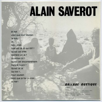 Alain Saverot – Ballade Rustique LP front cover