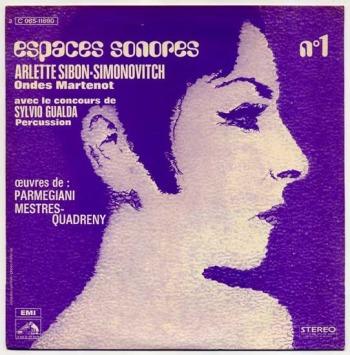 B. Parmegiani & JM Mestres Quadreny – Espaces-Sonores No.1 LP front cover