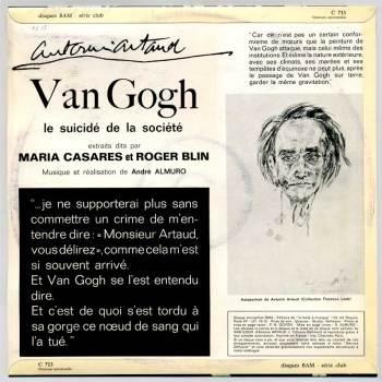 Van Gogh, Le Suicidé de la Société LP back cover