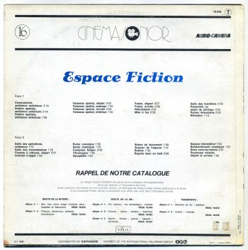 Espace Fiction LP back cover