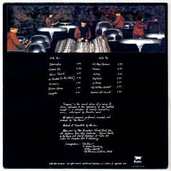 Kinothek Percussion Ensemble – Suspense LP back cover