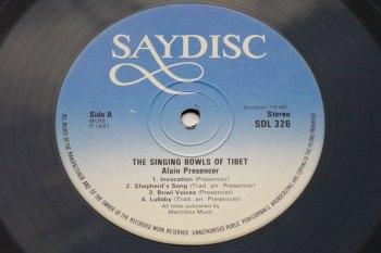 Alain Presencer – The Singing Bowls of Tibet LP side A