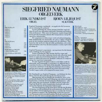 Siegfried Naumann - Orgelwerk LP back cover