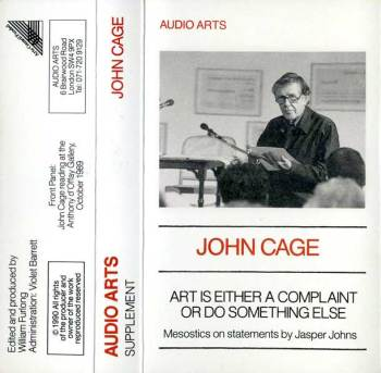 Art is Either a Complaint or Do Something Else cassette cover