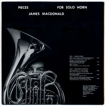 James MacDonald - Pieces for Solo Horn LP back cover