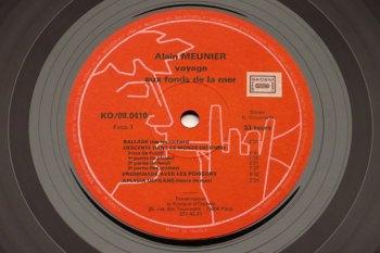 Alain Meunier – Voyage aux fonds de la mer LP side 1