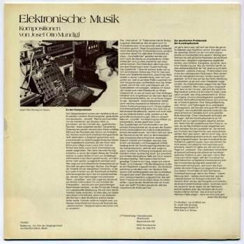 Josef Otto Mundigl - Elektronische Musik LP back cover