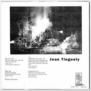 Jean Tinguely - Bascule VII LP back cover