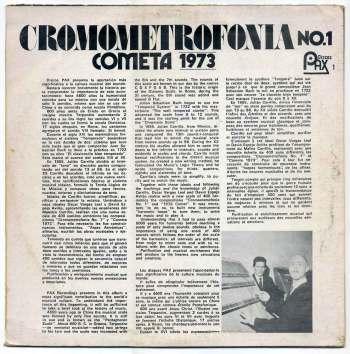 Oscar Vargas y David Espejo – Cromometrofonia LP back cover