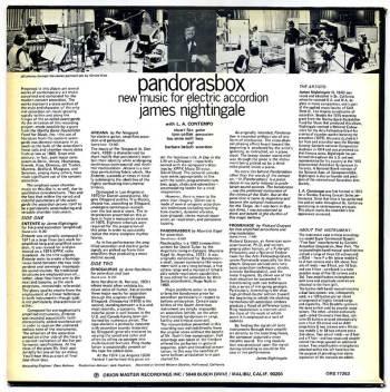 James Nightingale - Pandorasbox LP back cover