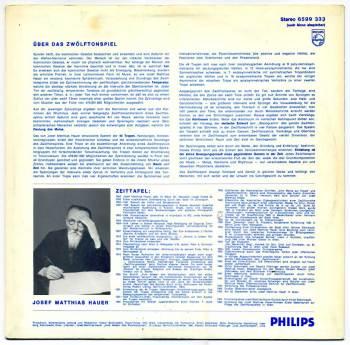 Josef Matthias Hauer – Das Zwölftonspiel LP back cover
