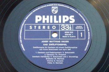 Josef Matthias Hauer – Das Zwölftonspiel LP side 1