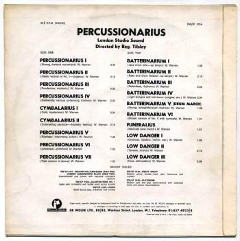 London Studio Sound - Percussionarius LP back cover
