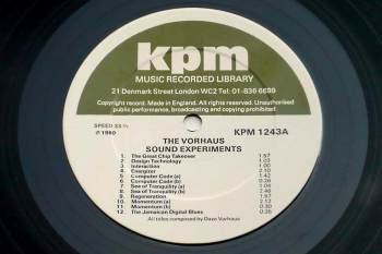 Dave Vorhaus - The Vorhaus Sound Experiments LP side A