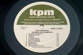 Dave Vorhaus - The Vorhaus Sound Experiments LP side A