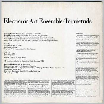 Electronic Art Ensemble - Inquietude LP back cover