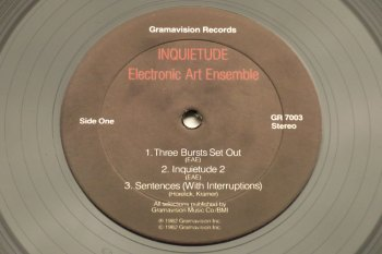 Electronic Art Ensemble - Inquietude LP side 1