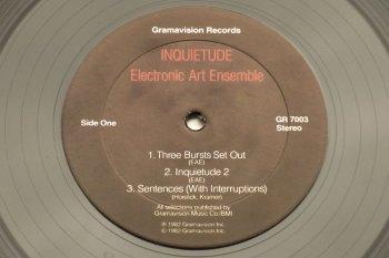 Electronic Art Ensemble - Inquietude LP side 1