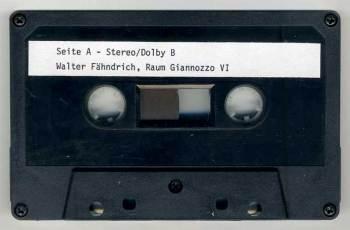 Walter Fähndrich – Musik für Raüme cassette side A