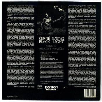 Michael Kocáb & Michal Pavlíček - Černé Světlo LP back cover