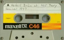 Herbert Brün seminar, k7 recording, 1977