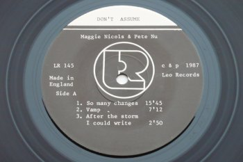 Maggie Nicols & Peter Nu – Don't Assume LP side 1