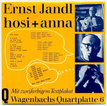 Ernst Jandl - Hosi und Anna, 7in front cover