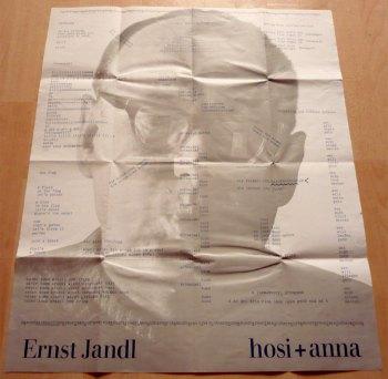 Ernst Jandl - Hosi und Anna, poster