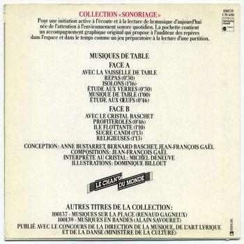 Jean-François Gaël - Musiques de table 7-inch back cover