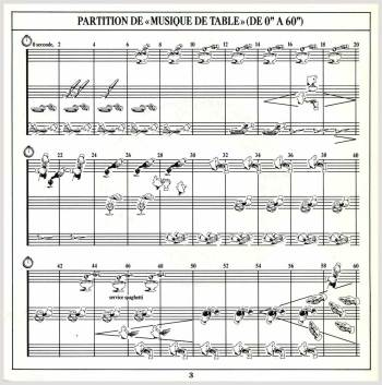 Jean-François Gaël - Musiques de table, page from the booklet
