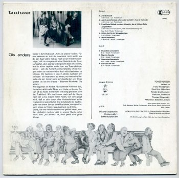 Tonschusser - Ois Anders LP back cover