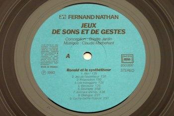 Jeux de Sons et de Gestes LP side A