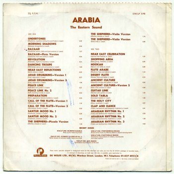 John Leach - Arabia LP back cover