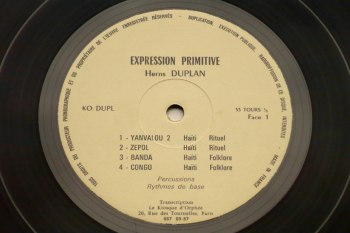 Herns Duplan - Expression Primitive LP side 1