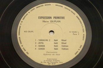 Herns Duplan - Expression Primitive LP side 1