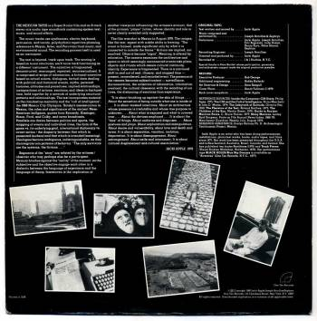 Jacki Apple - The Mexican Tapes LP back cover