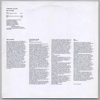 Gilius van Bergeijk - Over de Dood en de Tijd LP back cover