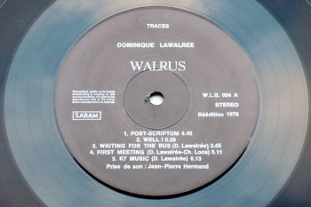 Dominique Lawalrée - Traces LP side A