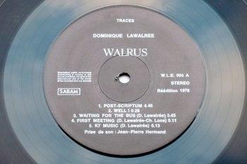 Dominique Lawalrée - Traces LP side A