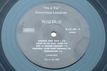 Dominique Lawalrée - Vis à Vis LP side A