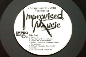 Inaugural Perth Festival of Improvised Music LP side 1